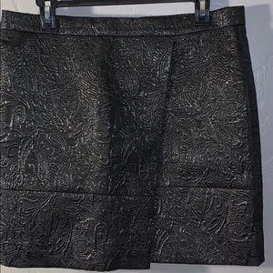Metallic JCrew skirt